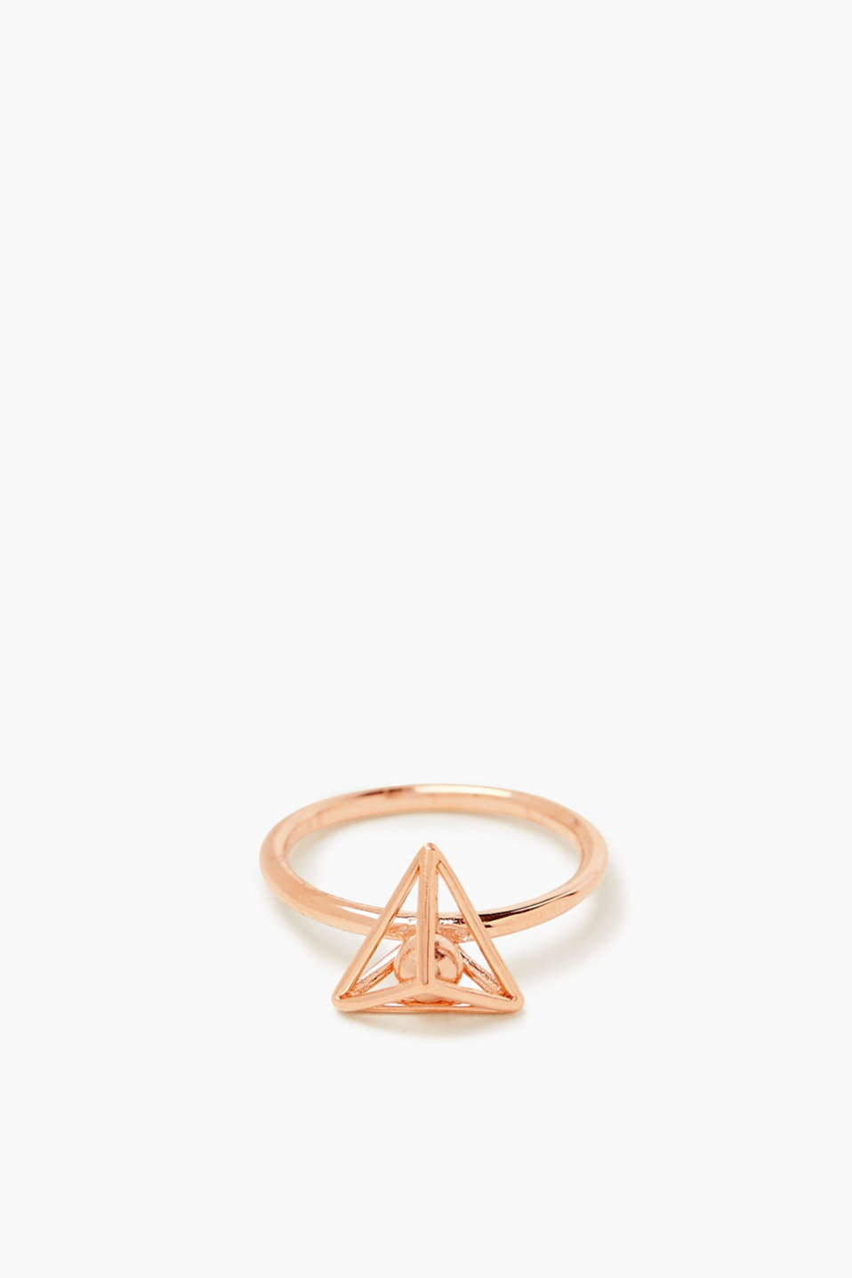 Esprit - Rose gold ring in sterling silver