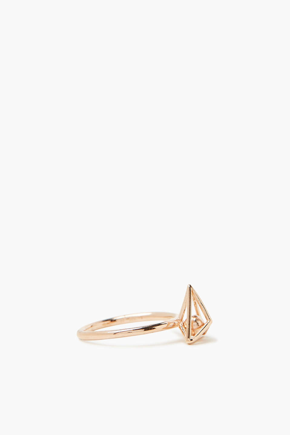 Rose gold ring in sterling silver