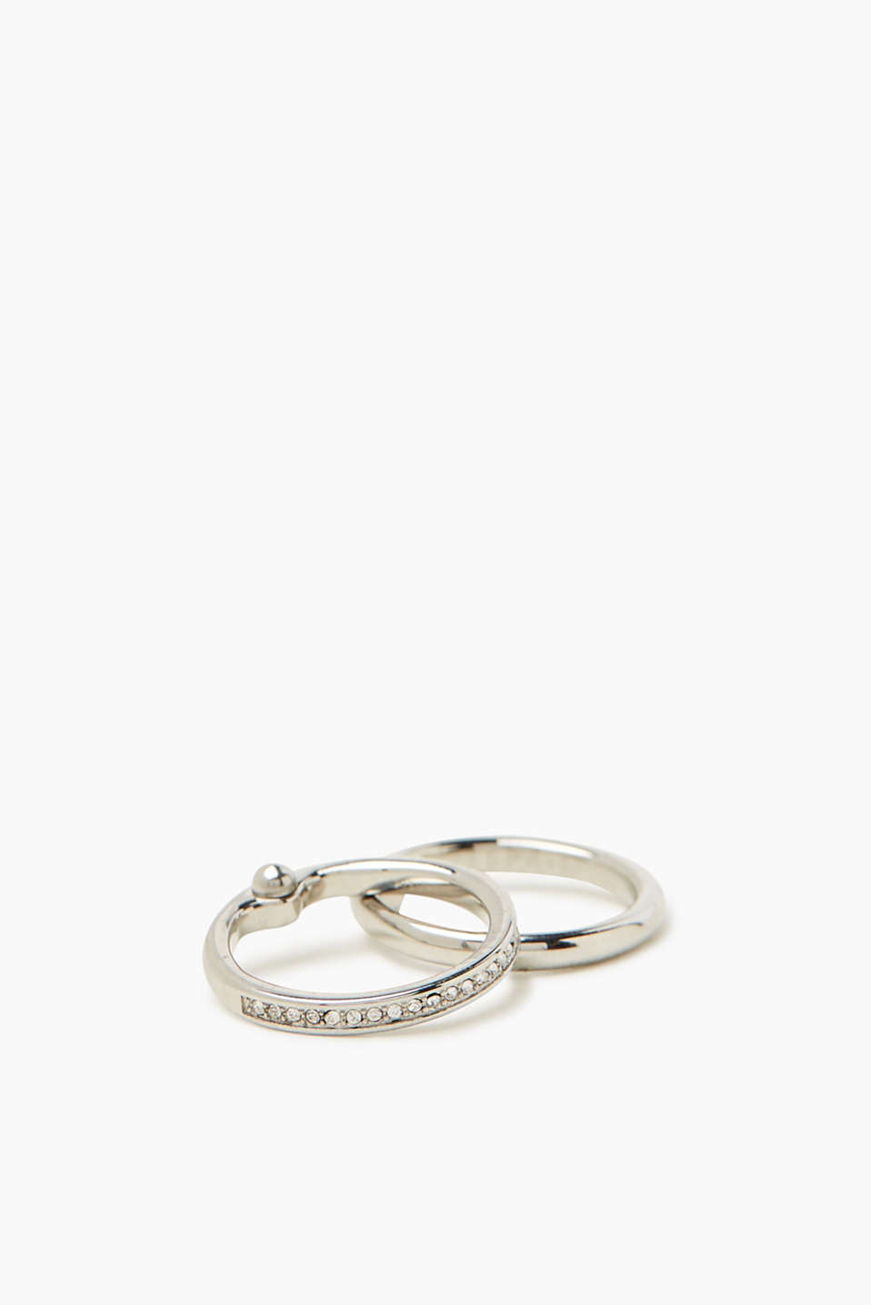 Esprit - Set of two rings with zirconia
