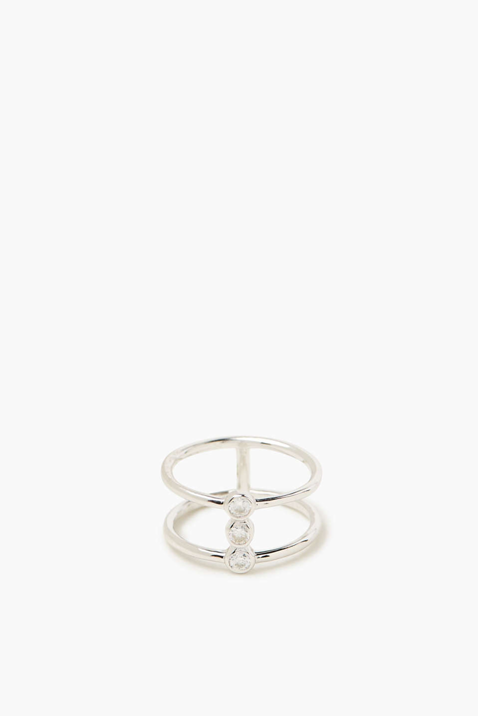 Esprit - Zirconia-trimmed ring in sterling silver