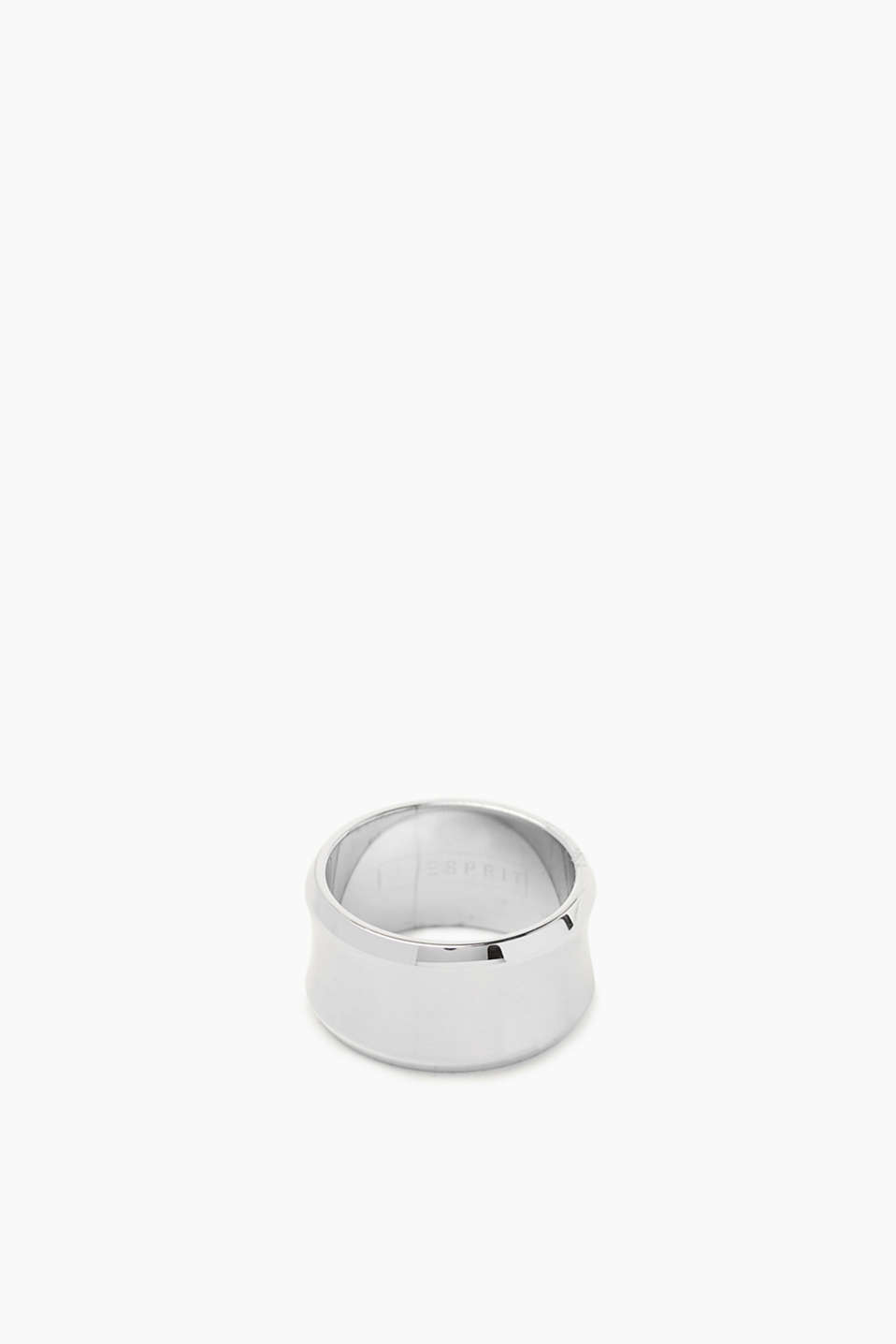 Distinctive ring in satined stainless steel
