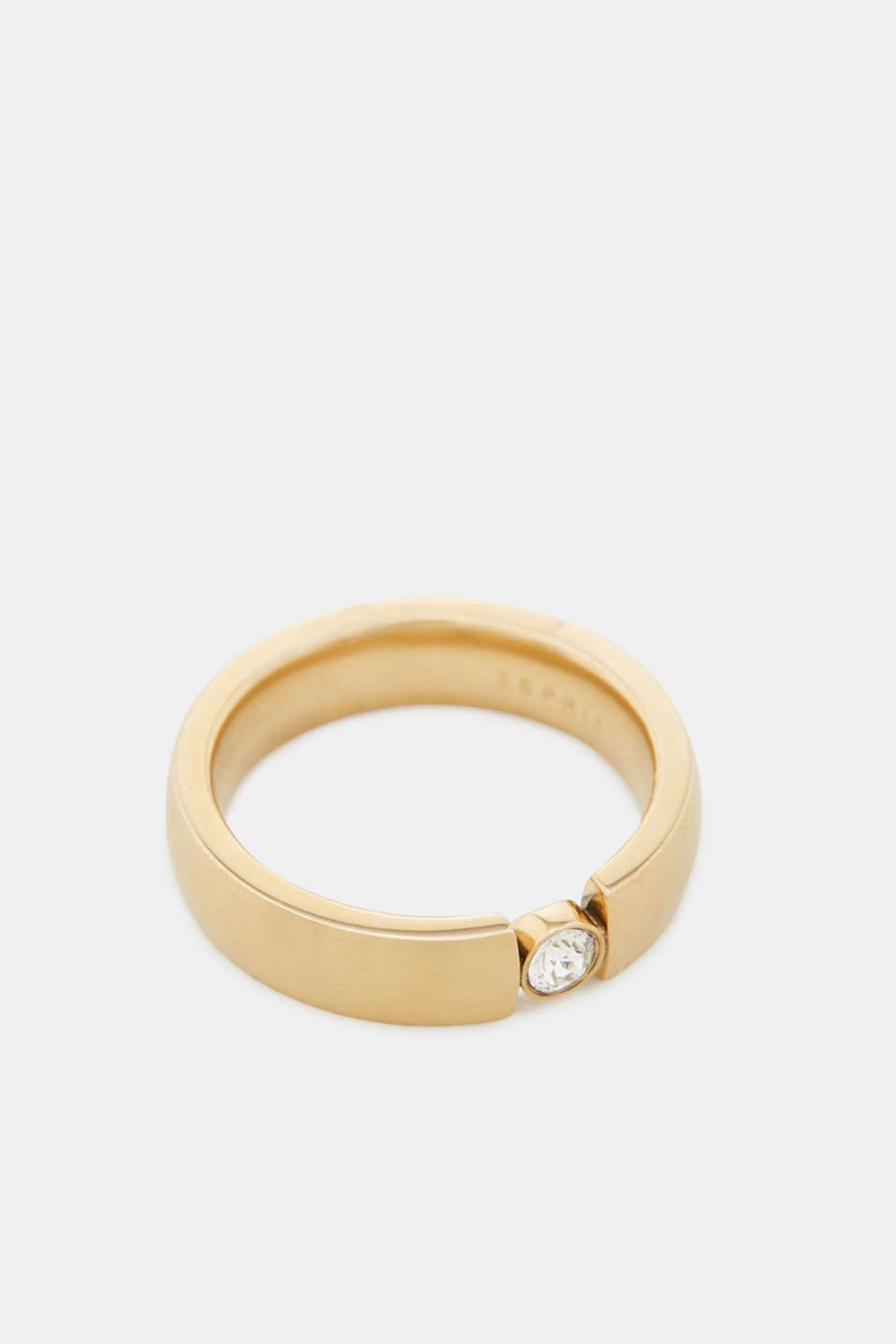 Esprit - Timeless stainless steel ring with zirconia