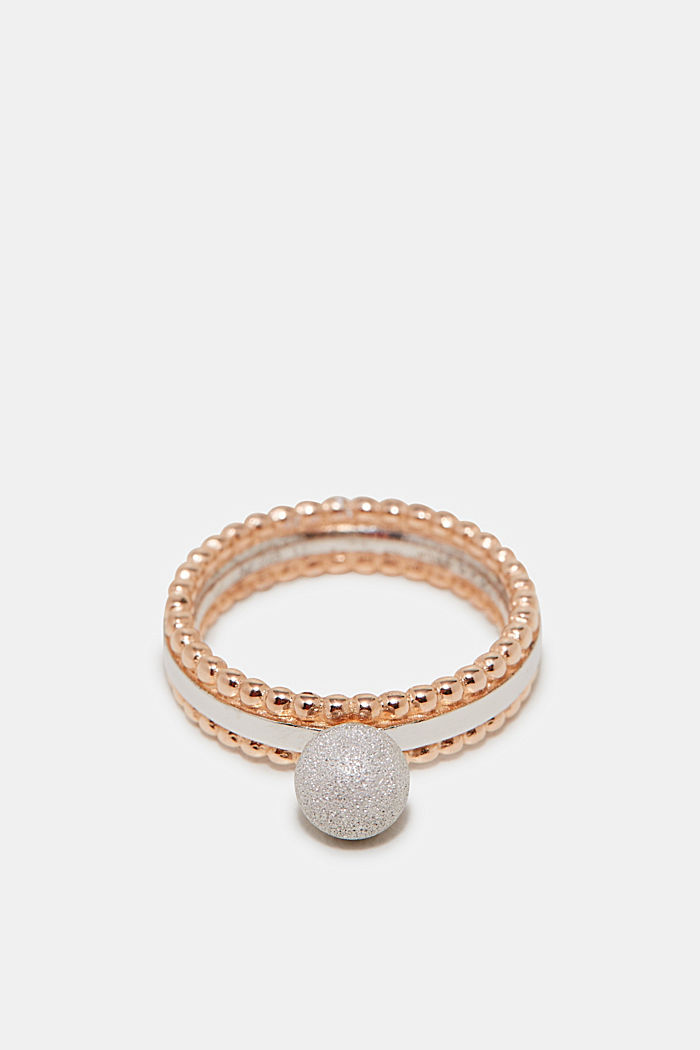 Rose gold ring with a bead