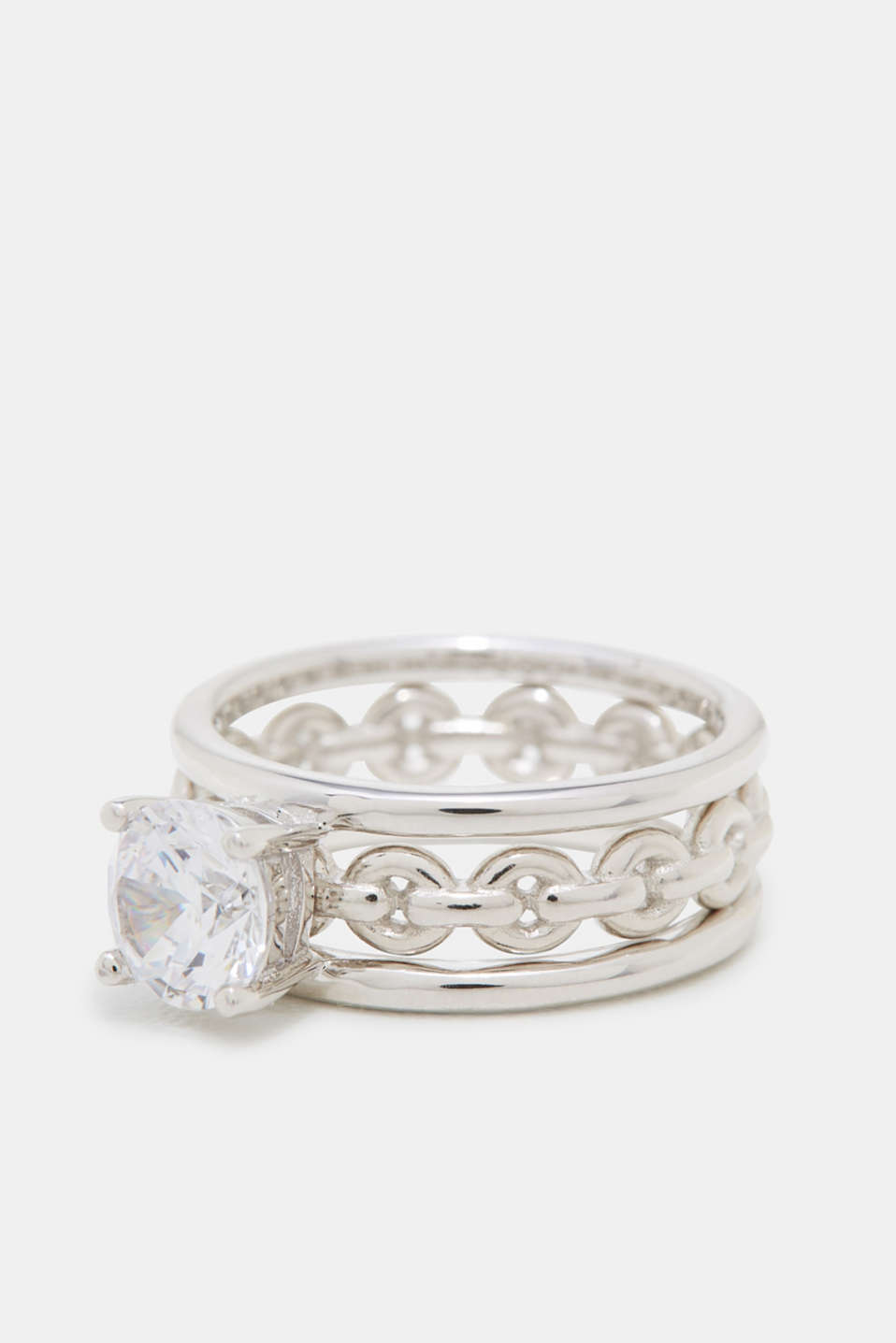 Esprit - Ring set with zirconia, in sterling silver