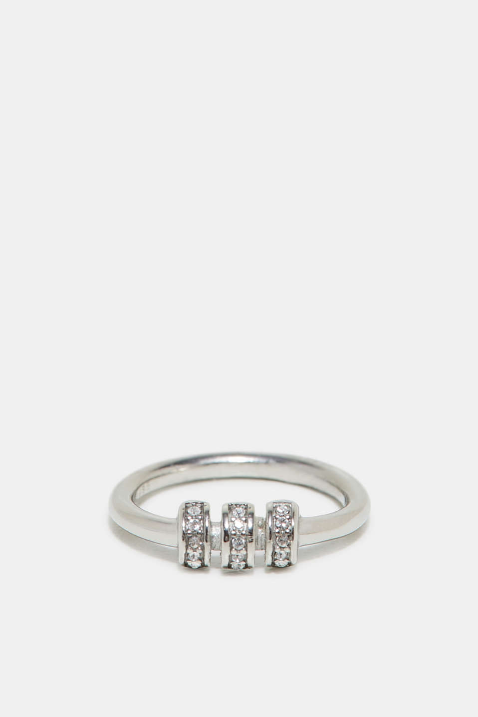 Esprit - Ring with zirconia, in stainless steel