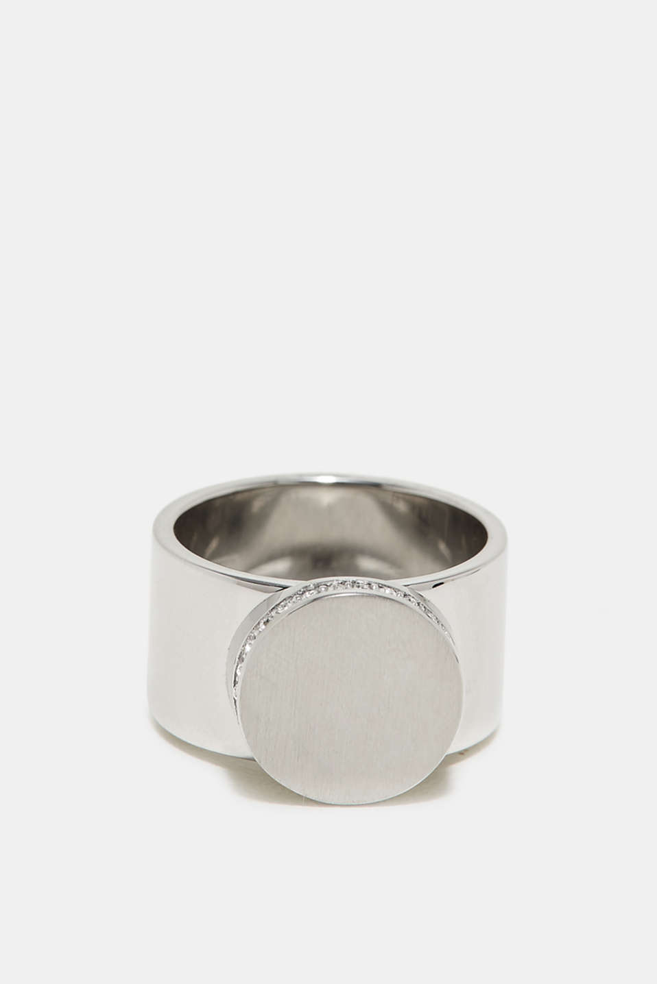 Esprit - Statement ring with zirconia, made of stainless steel