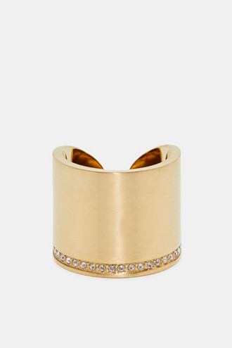 Statement ring with zirconia, made of stainless steel