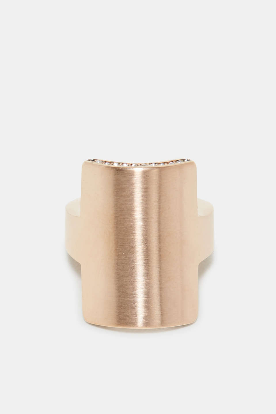 Rose gold statement ring in stainless steel, one colour, detail image number 0