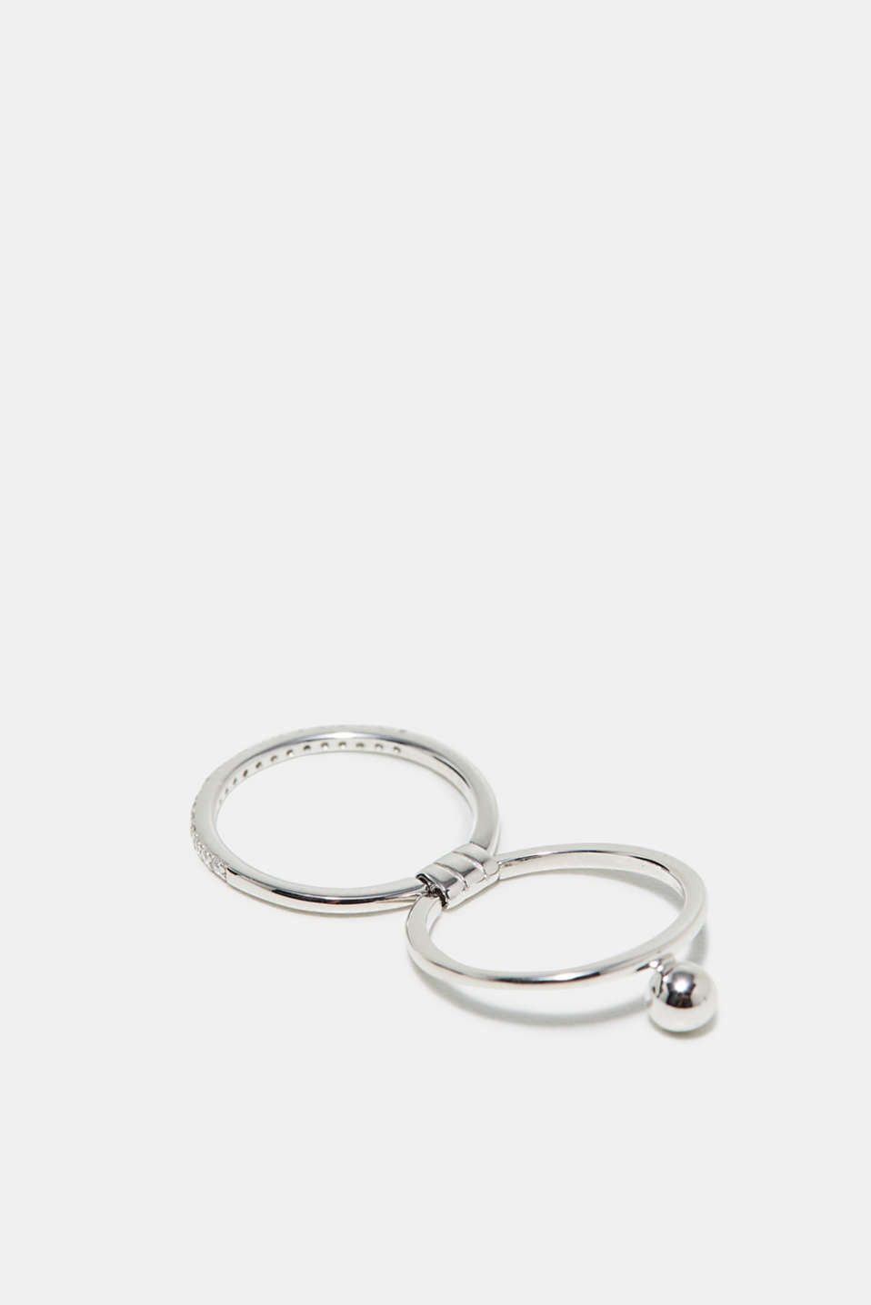 Moveable ring in sterling silver, one colour, detail image number 1