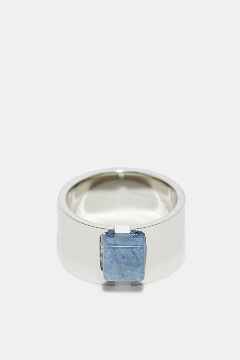 Statement ring with a delicate blue gemstone