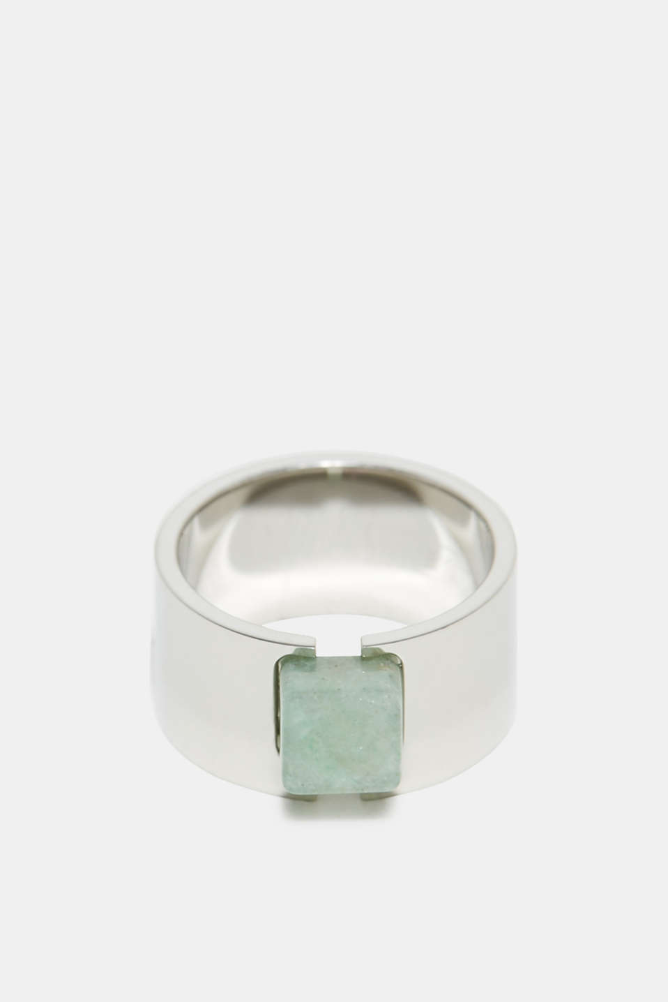 Esprit - Ring with a jade-effect gemstone