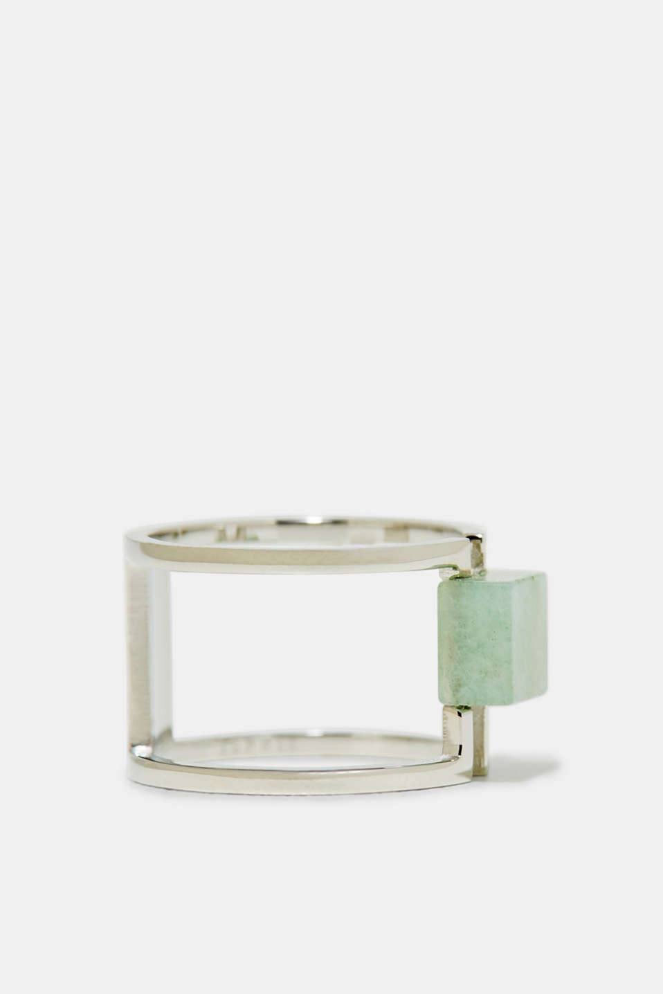 Esprit - Statement gemstone ring in stainless steel