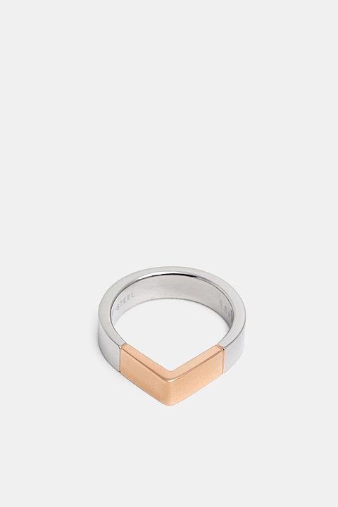 Stainless steel teardrop-shaped ring