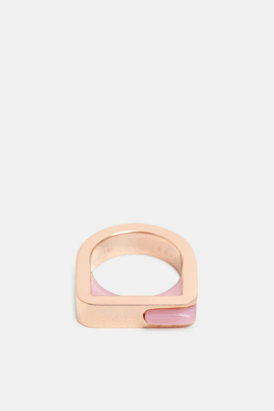 Stainless steel statement ring, ROSEGOLD, detail image number 0