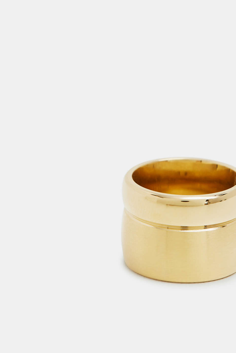 Stainless steel statement ring, GOLD, detail image number 1