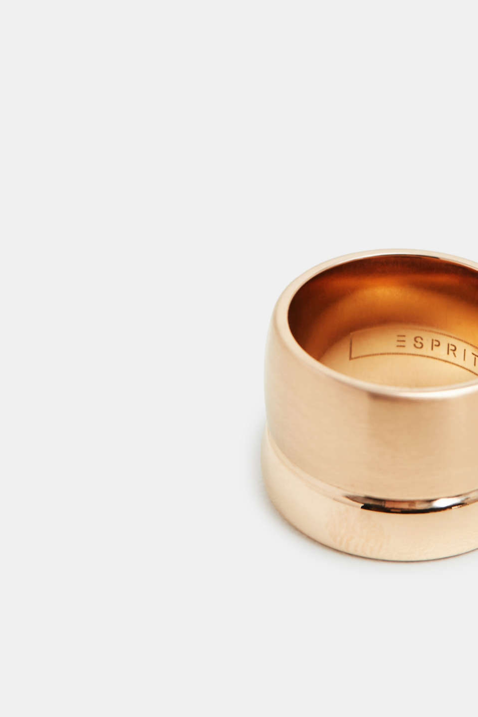 Stainless steel statement ring, ROSEGOLD, detail image number 1