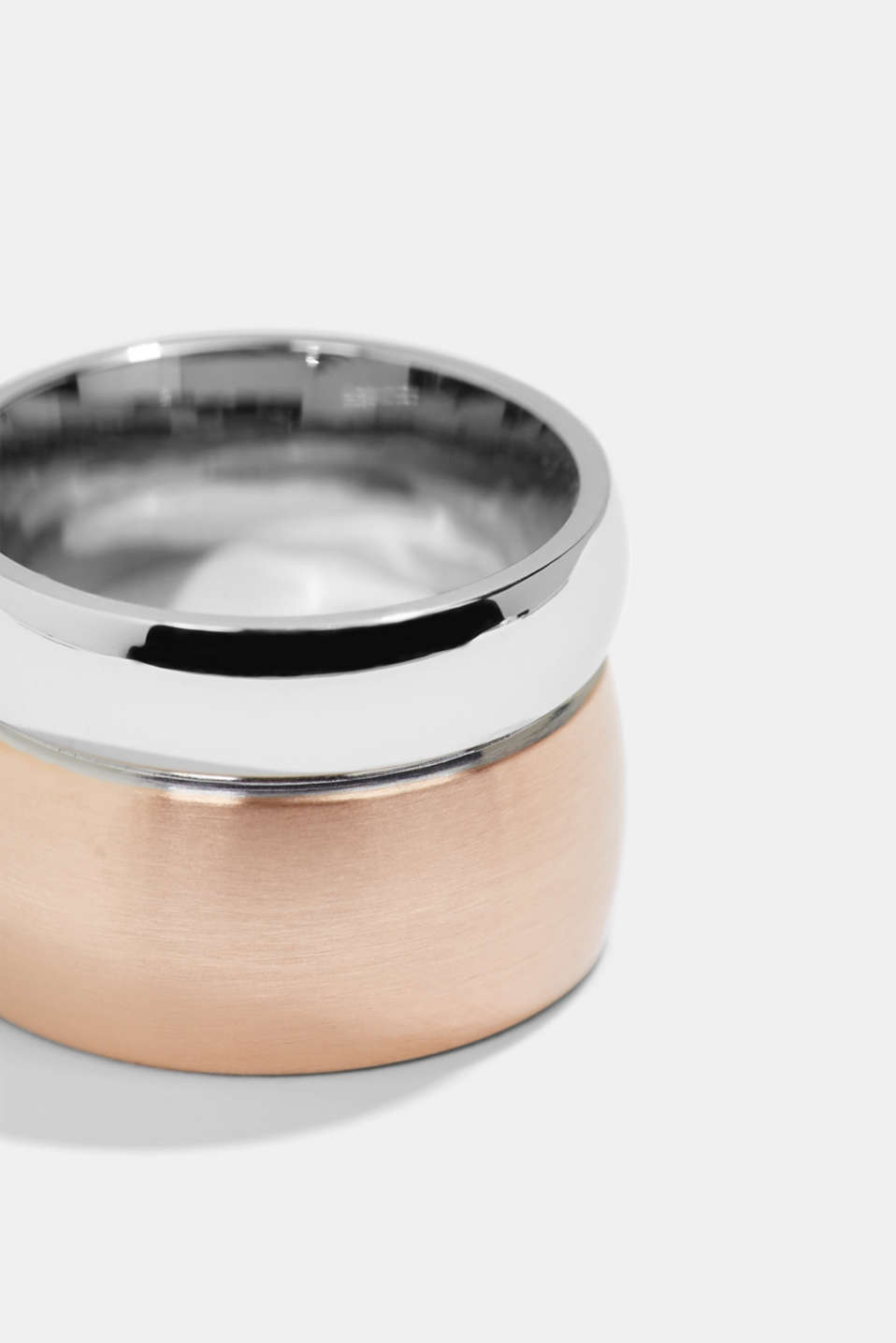 Stainless steel ring, ROSEGOLD, detail image number 1