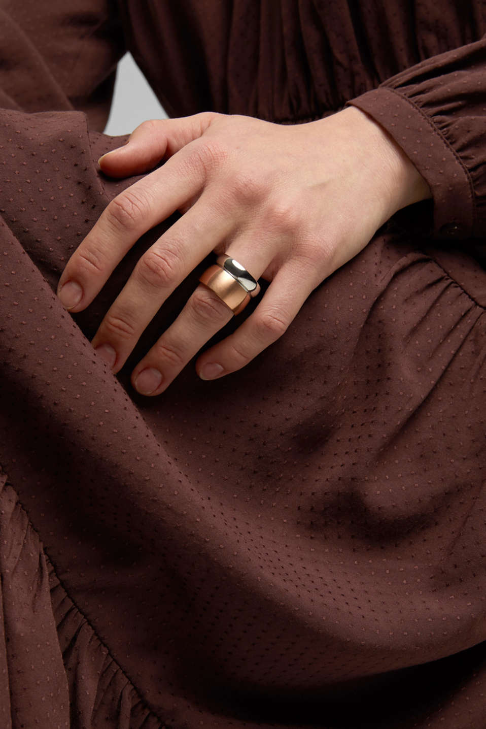 Stainless steel ring, ROSEGOLD, detail image number 2