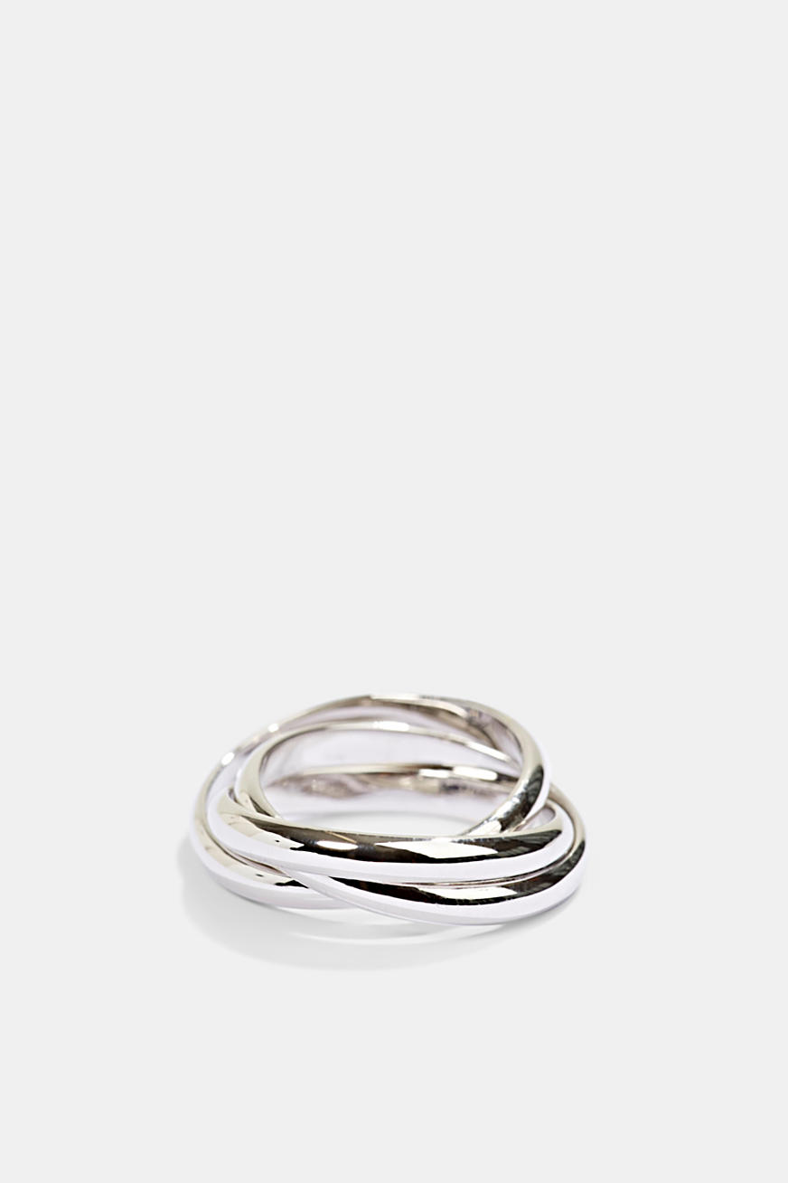 Driedelige ring van sterlingzilver