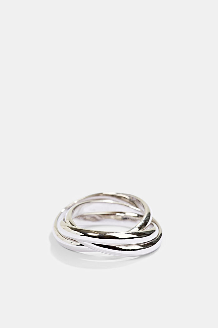 Ring trio in sterling silver