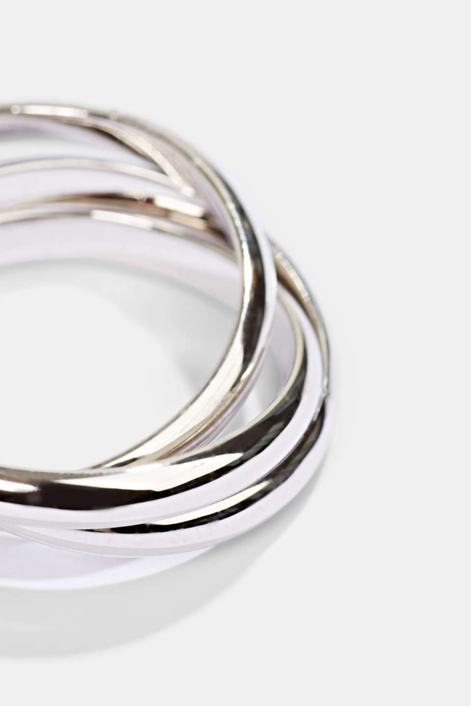 Ring trio in sterling silver, SILVER, detail image number 1