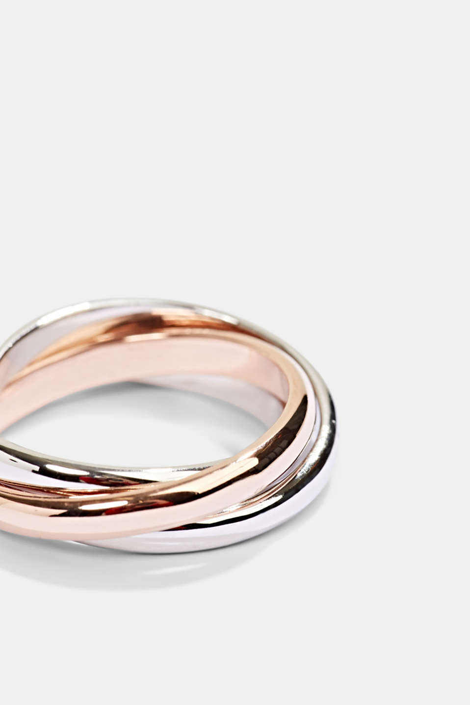 Ring trio in sterling silver, ROSEGOLD, detail image number 1