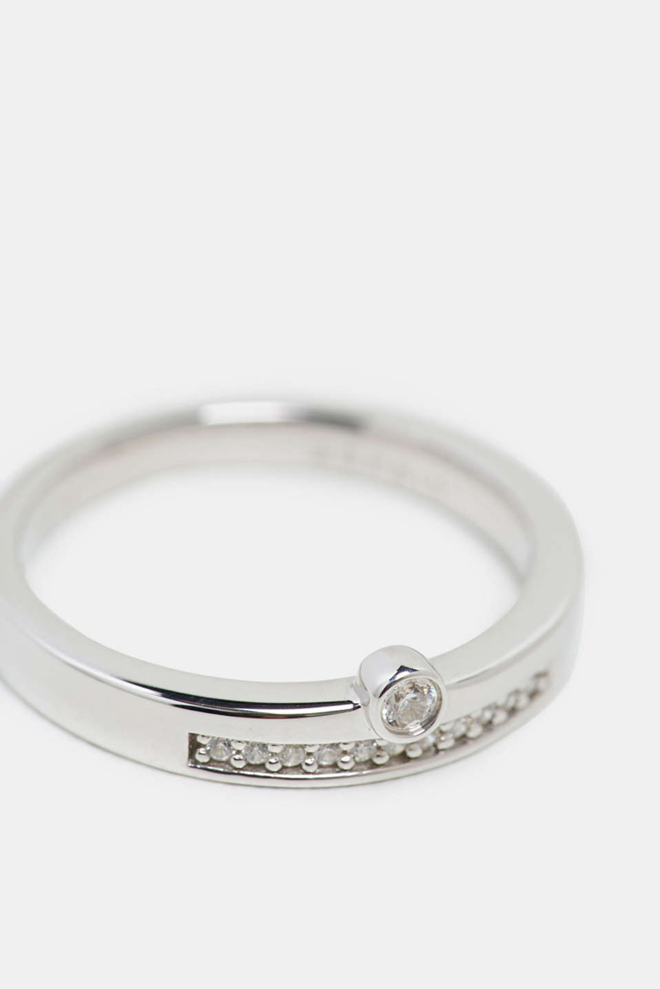 Esprit - Stainless-steel ring trimmed with different zirconia stones
