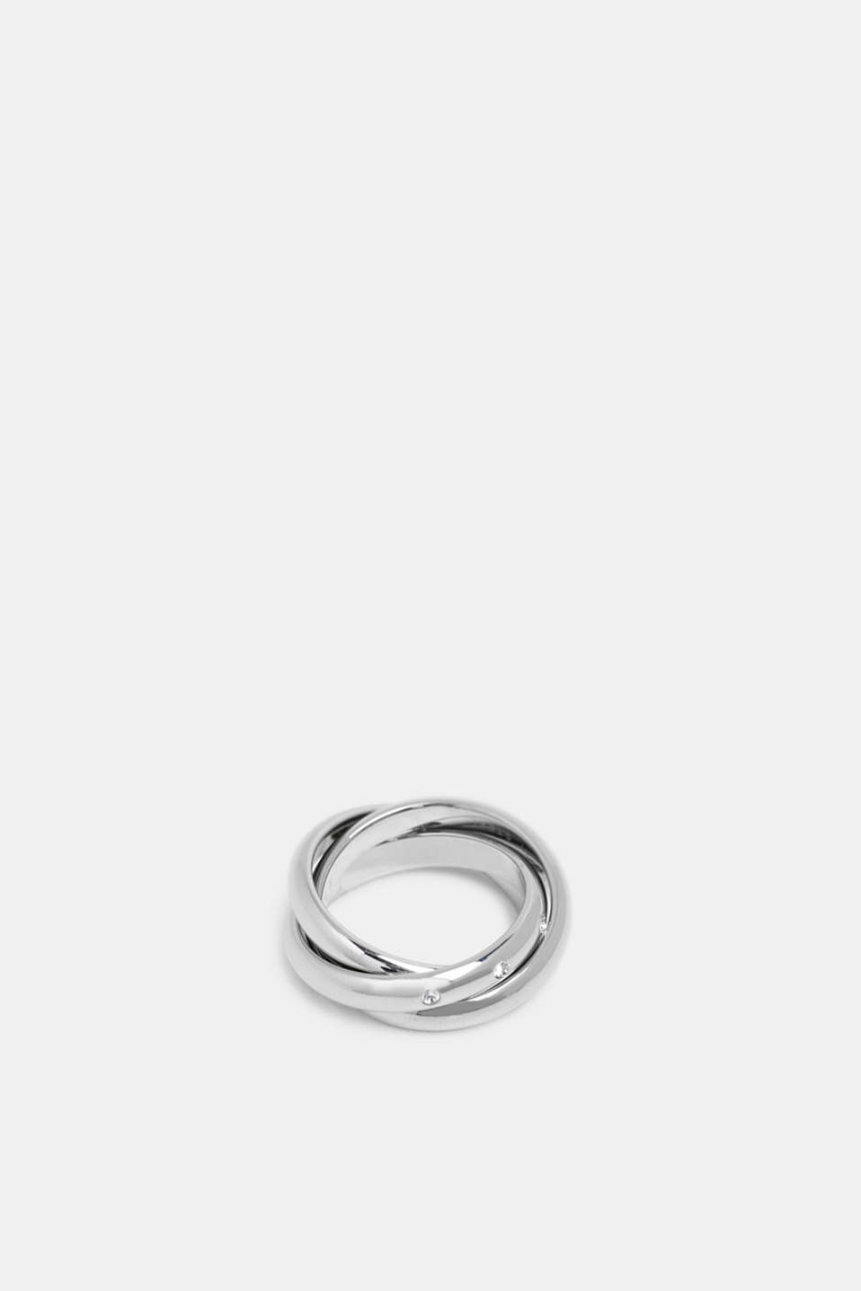 Esprit - Stainless-steel Russian ring trimmed with zirconia