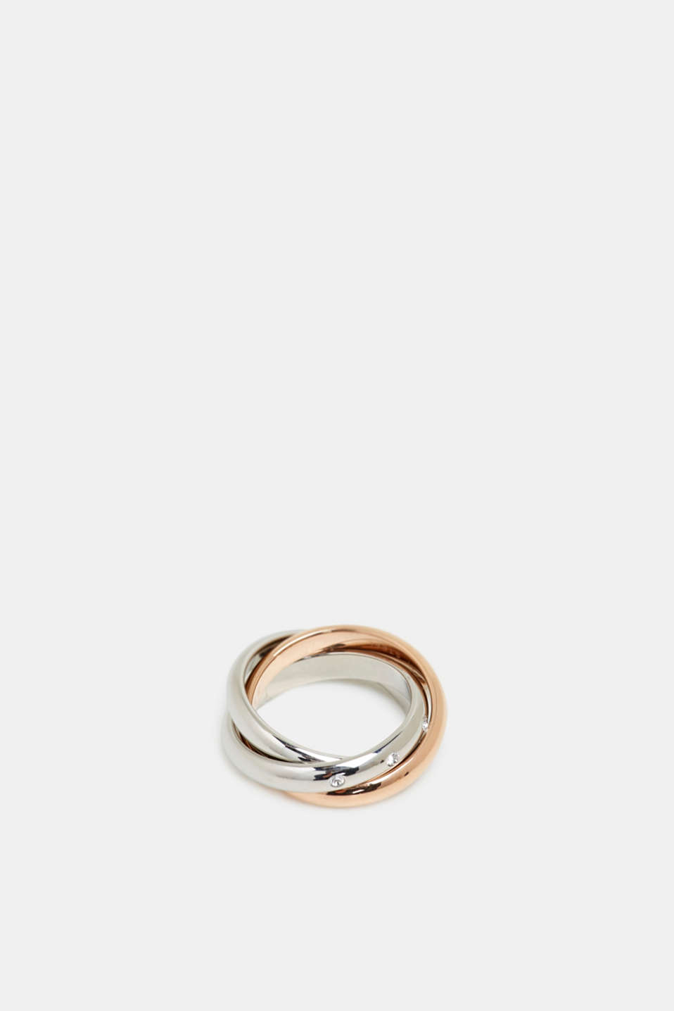 Stainless steel ring trio, ROSEGOLD, detail image number 0