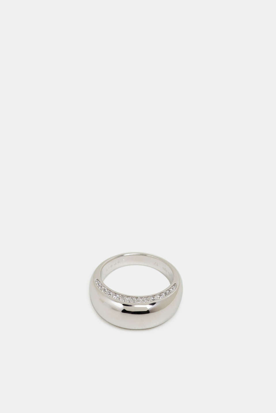Statement ring with zirconia, made of stainless steel, 1COLOR, detail image number 0