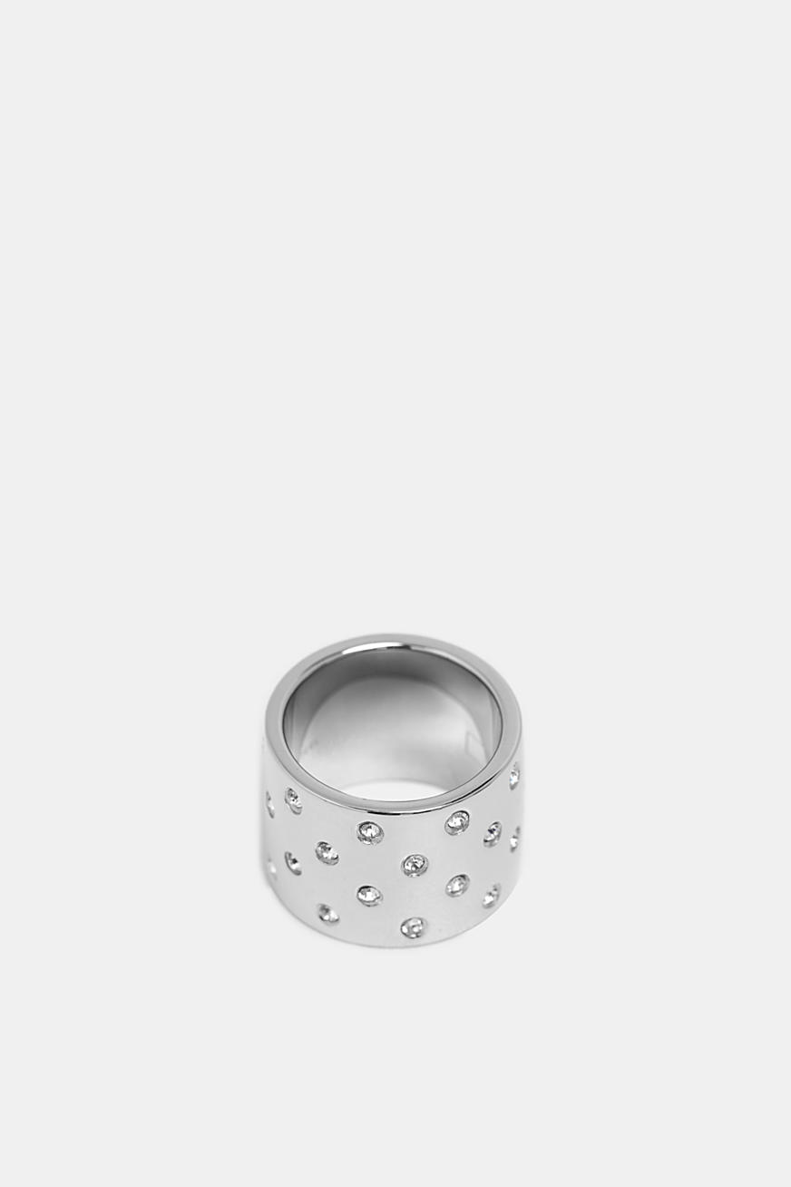 Statement ring with zirconia
