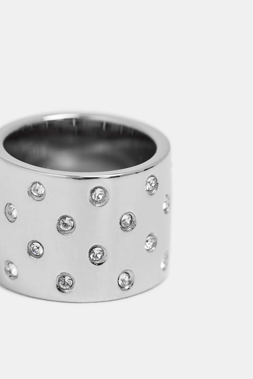 Statement ring with zirconia, SILVER, detail image number 1