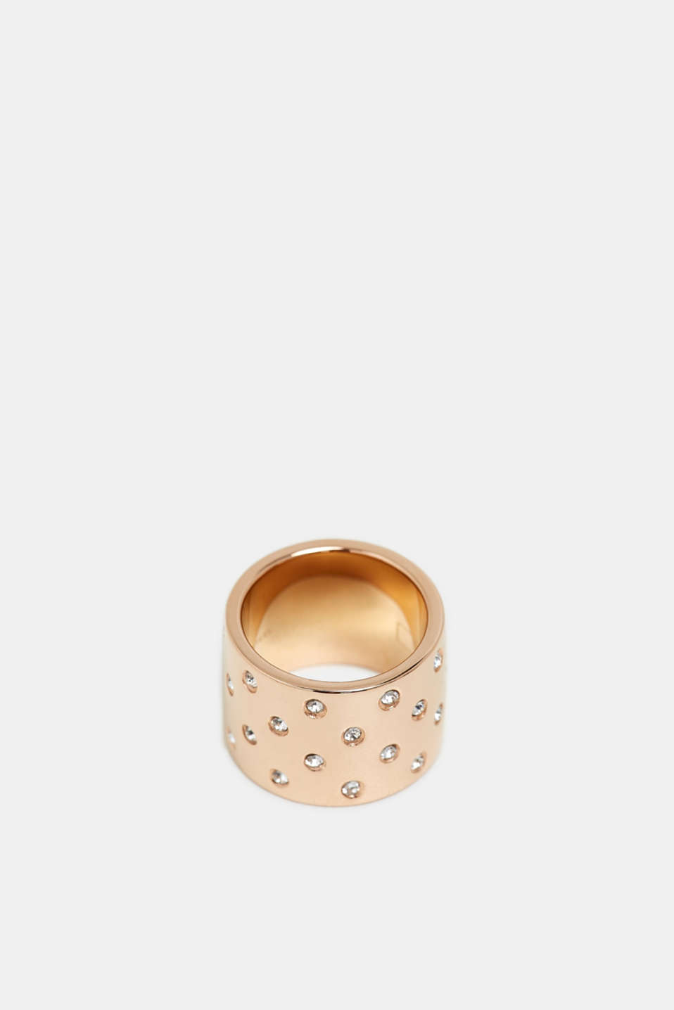 Statement ring with zirconia, GOLD, detail image number 0