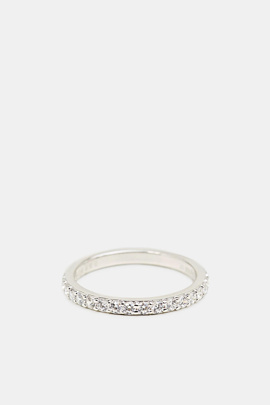 Ring med zirkoner, sterlingsilver