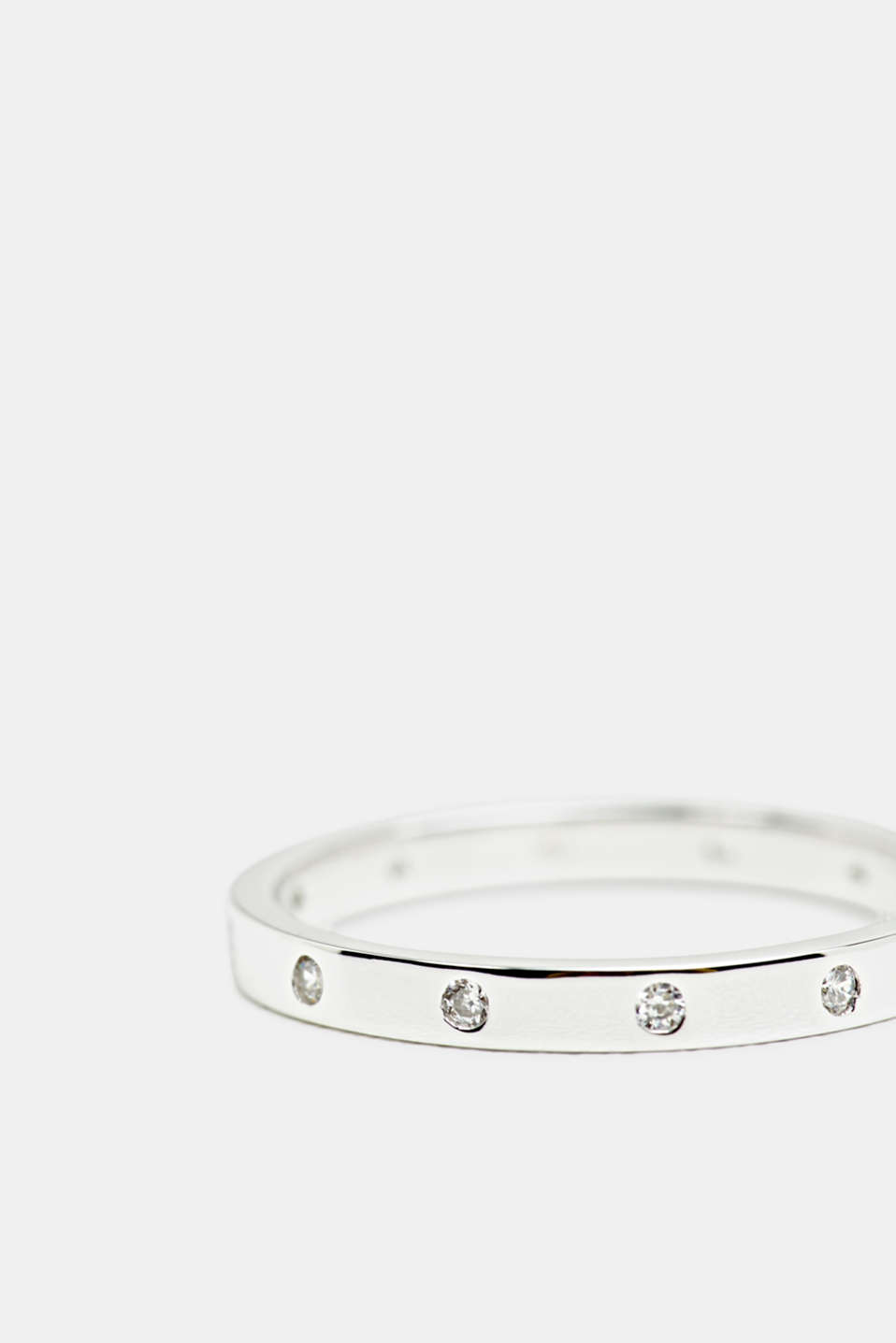 Esprit - Layered ring with zirconia, sterling silver