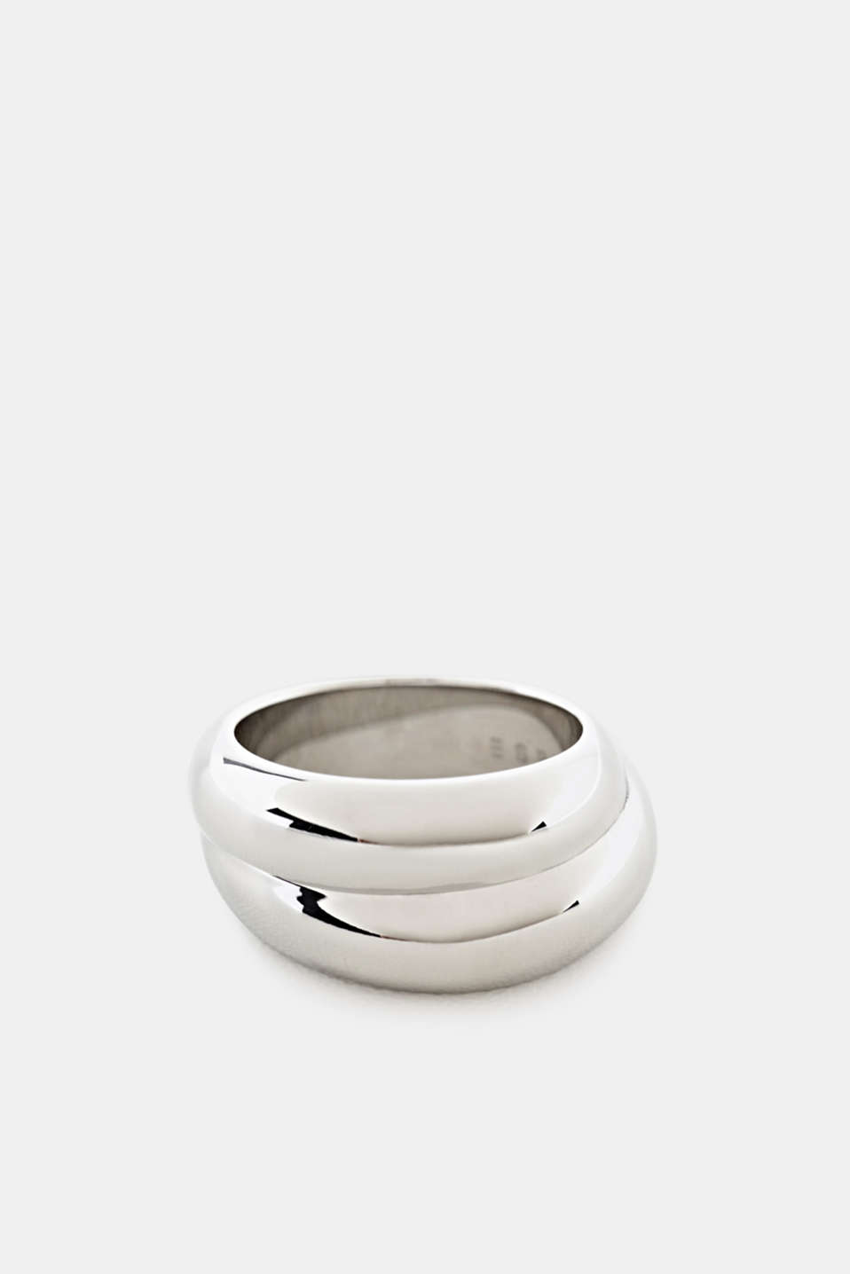 Stainless steel statement ring, LCSILVER, detail image number 0