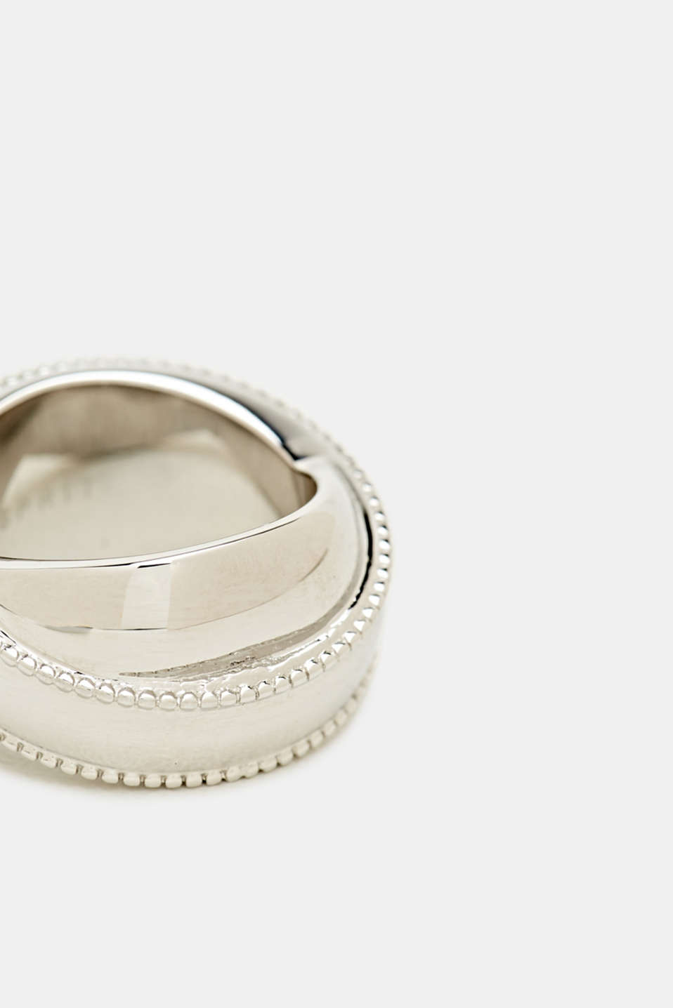 Stainless steel statement ring, LCSILVER, detail image number 1
