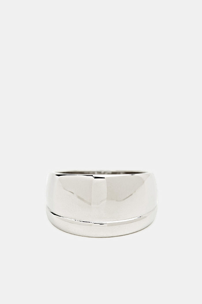Wide stainless steel ring, SILVER, detail image number 0
