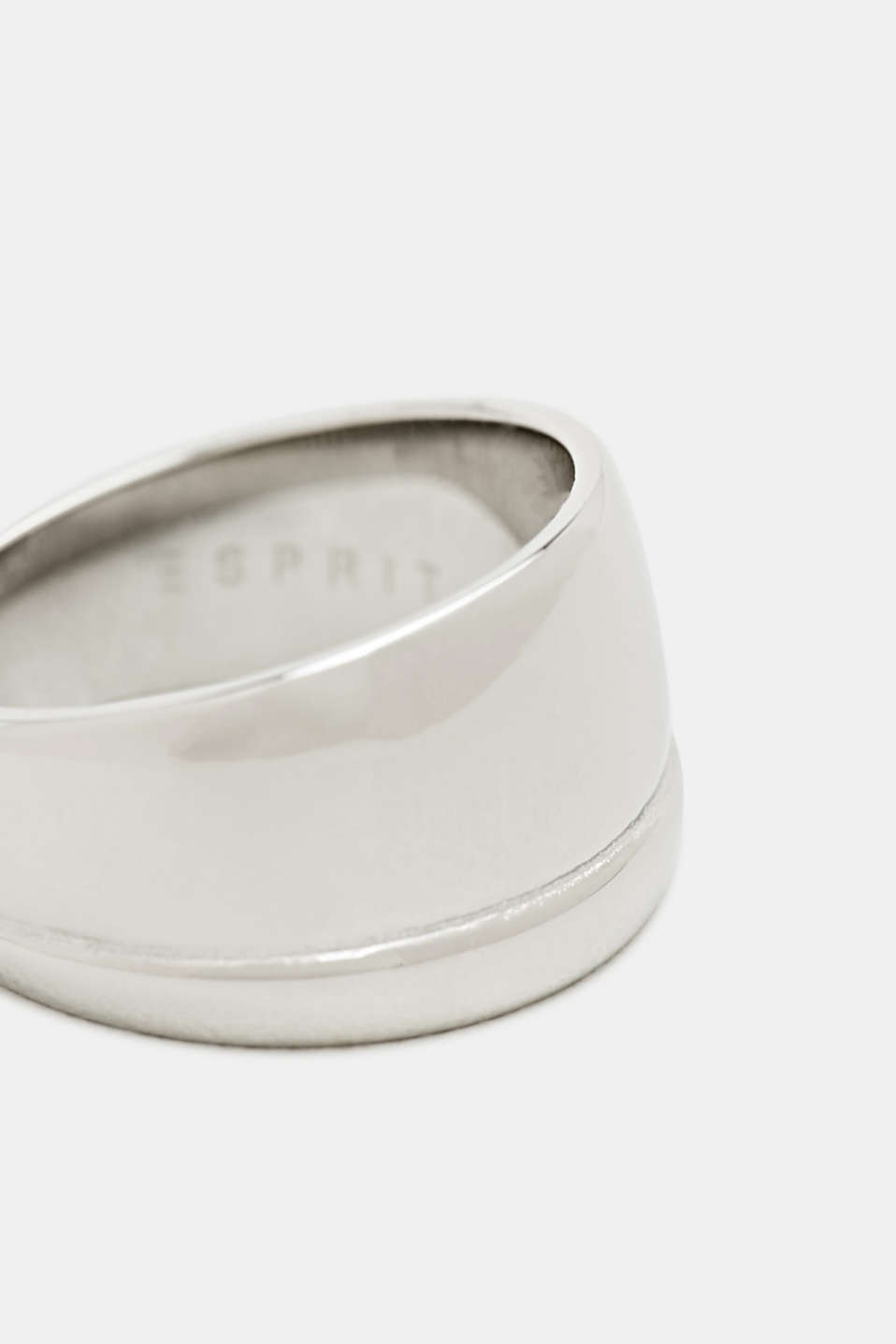 Wide stainless steel ring, LCSILVER, detail image number 1