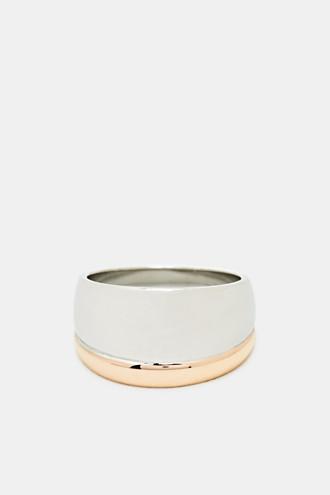 Bi-colour stainless steel ring