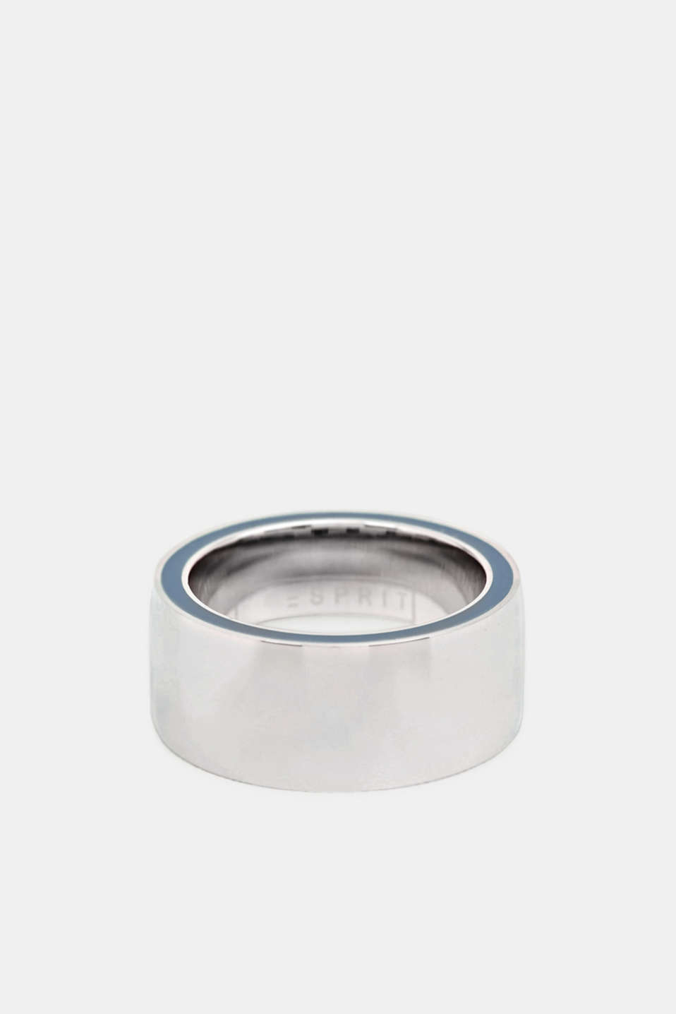 Ring with a blue detail, stainless steel, LCSILVER, detail image number 0