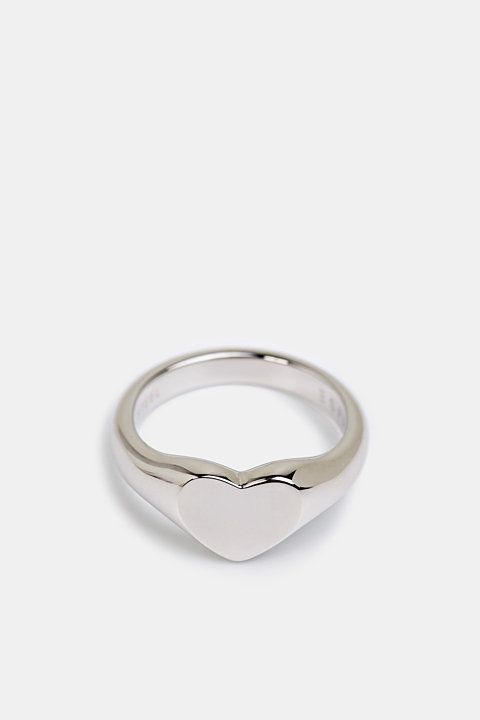 Stainless steel heart ring