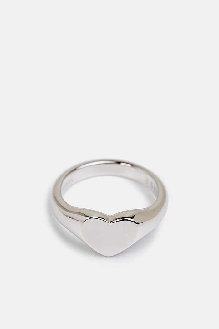 Stainless steel heart ring, SILVER, detail image number 0