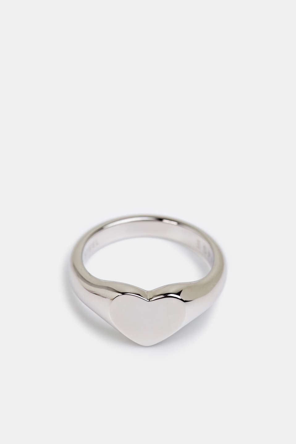 Stainless steel heart ring, LCSILVER, detail image number 0