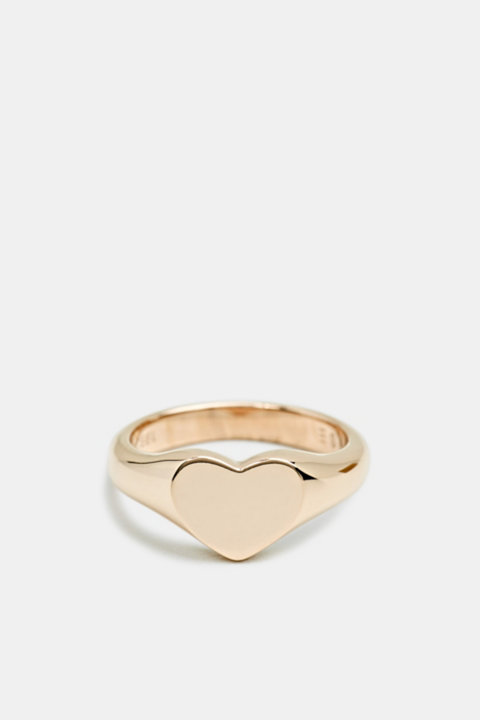 Heart-shaped ring made of stainless steel