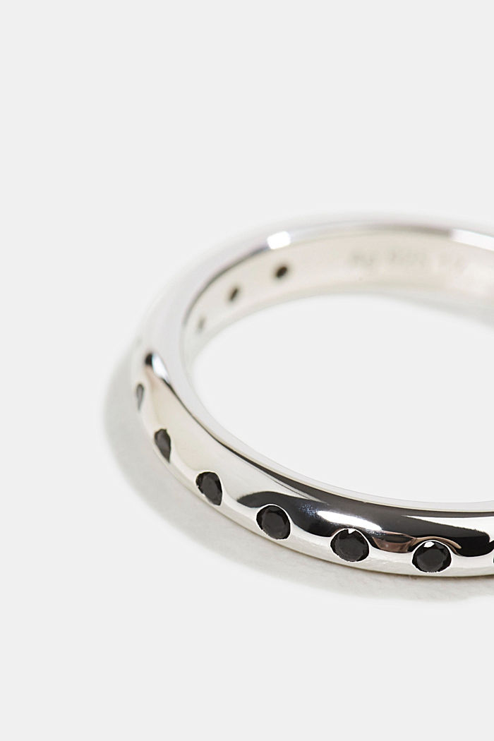Ring mit Zirkonia, Sterling Silber, SILVER, detail image number 1