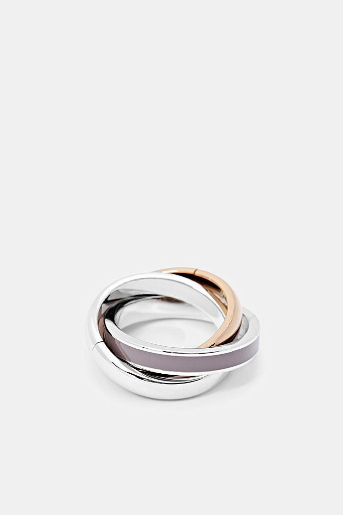 Trio-Ring aus Edelstahl