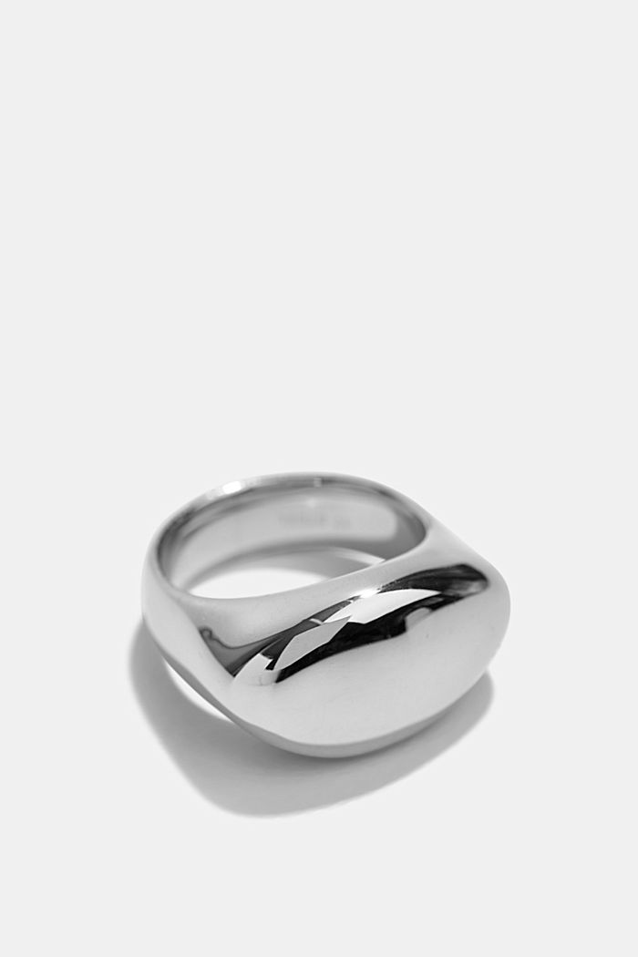Stainless-steel signet ring, SILVER, detail image number 1