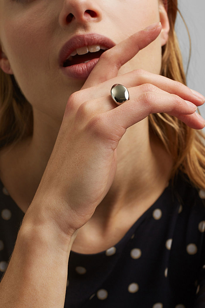 Stainless-steel signet ring