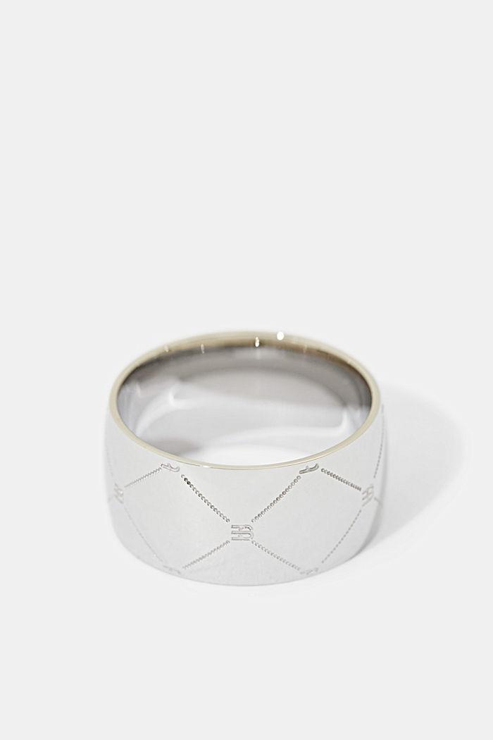 Ring van edelstaal met monogram